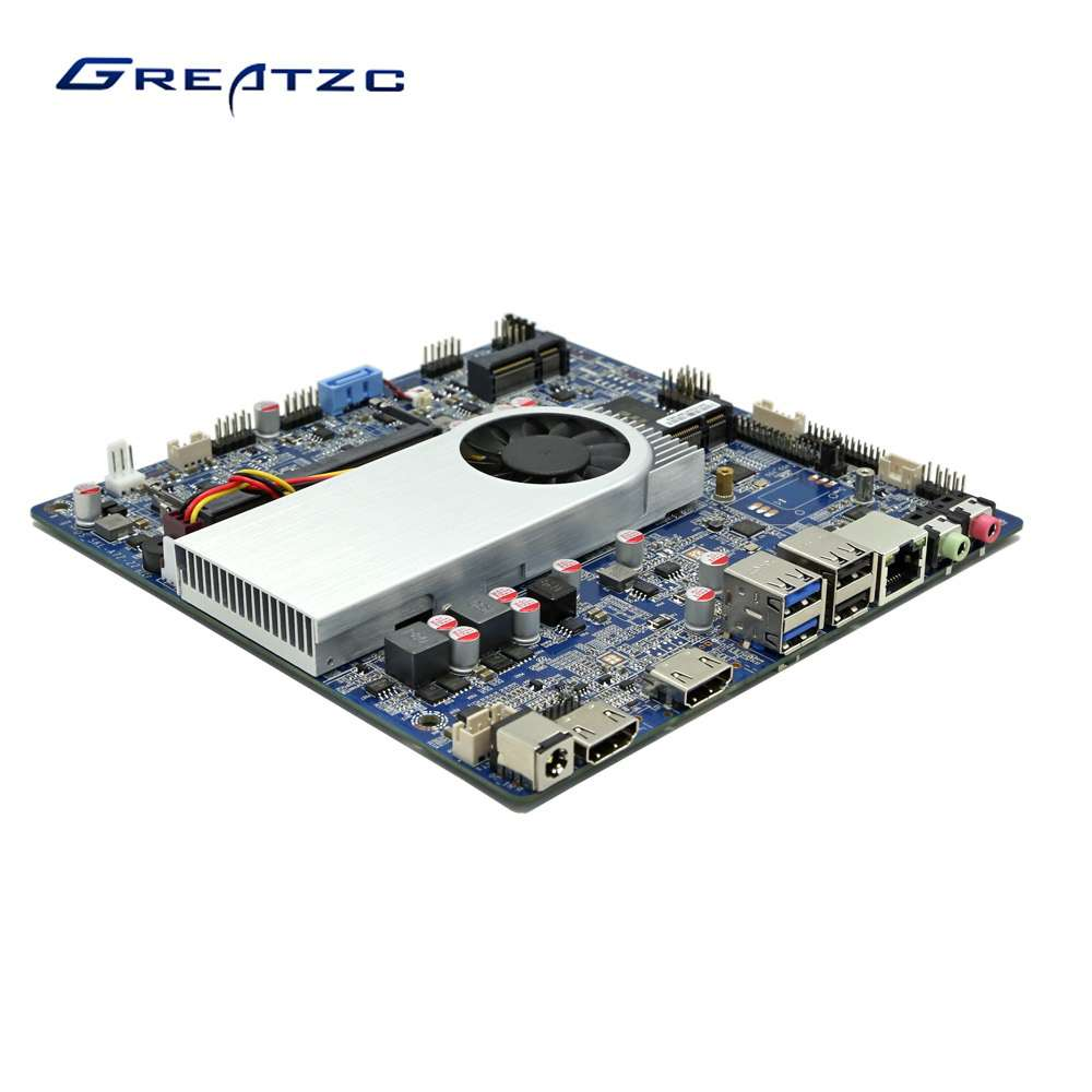 ZC-T3855SL DC12V Industrial Mini ITX Motherboard With 3855U CPU,2 COM Ports