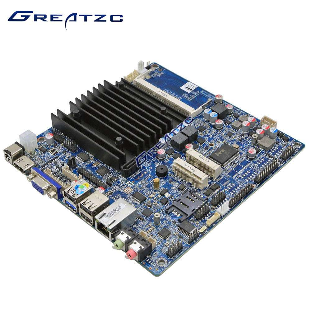 ZC-BT19SL-6C Fanless Mini ITX Motherboard J1900 Quad Core With 6 RS232 Ports