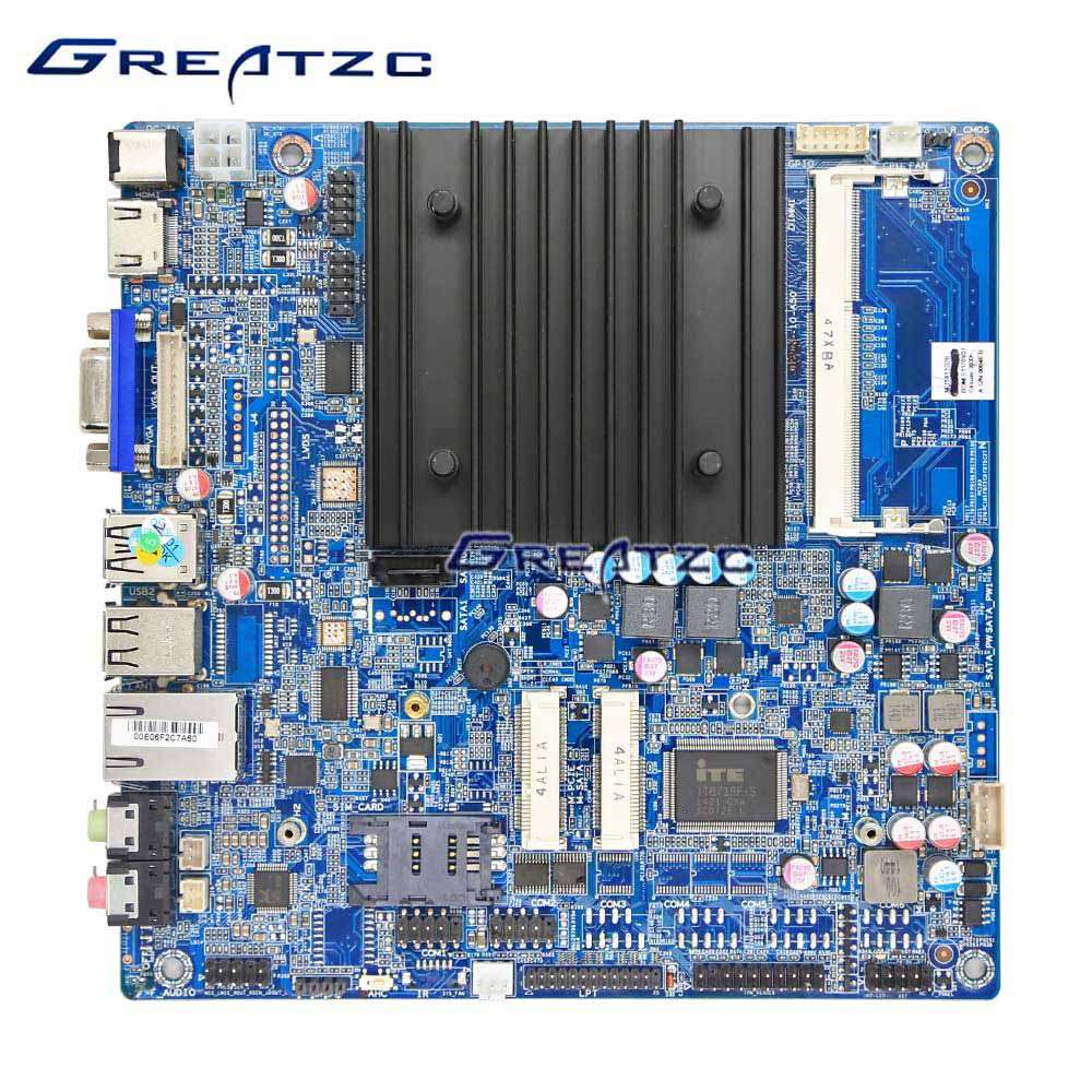 ZC-BT18V J1800 Fanless Industrial Computer Mini IT Motherboard